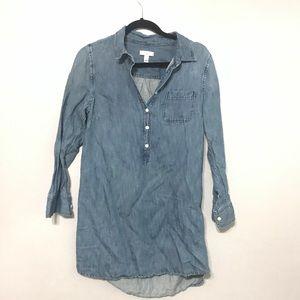 J Crew Denim Tunic Shirt Dress Womens Size 8